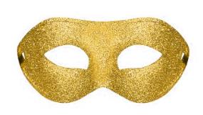 Ögonmask Glittrig  guld