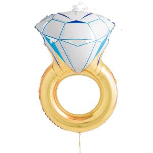 Diamantring heliumballong