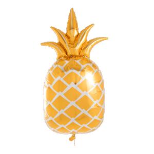 guld ananas heliumballong