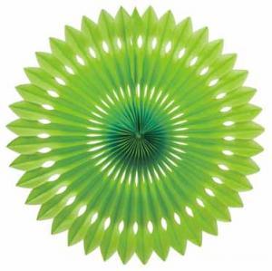 Papper solfjäder limegrön