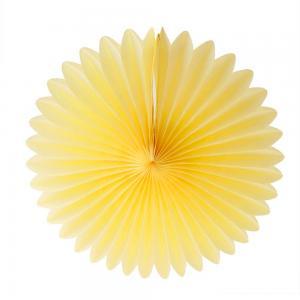 Papperssolfjäder gul