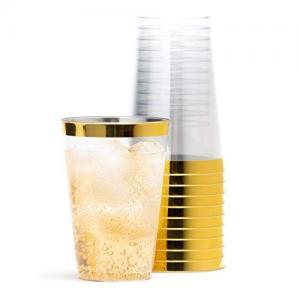 Vattenglas I PLAST PREMIUM GULDKANT