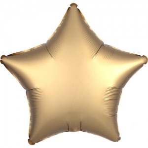 Folie ballong satin Stjärna Guld
