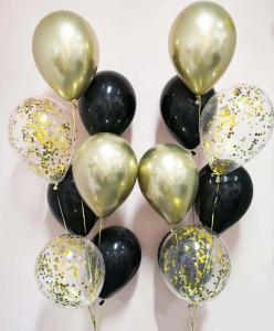 Chromékonfetti 7st latexballonger 15