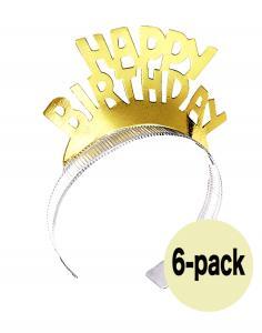 happy birthday papperstiara guld