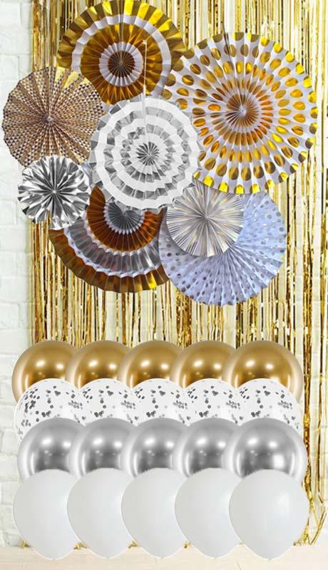 guldsilver dekorationskit
