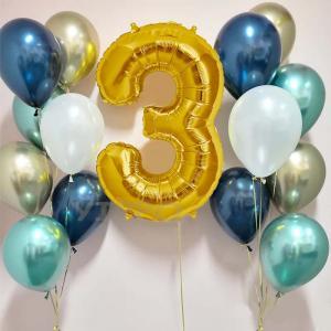 födelsedags ballongbukett lyxblå