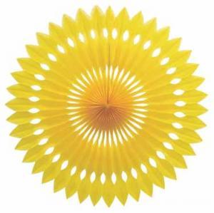 Papper solfjäder gul
