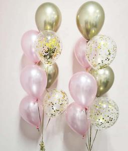 Chromékonfetti 7st latexballonger 14