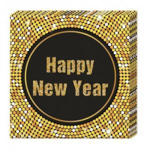 Servetter Happy New Year disco