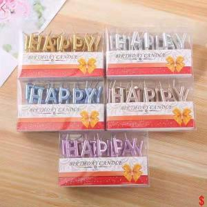 Tårtljus Happy Birthday Osorterad
