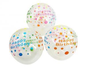 Latexballonger 100-pack happy birthday färg-mix