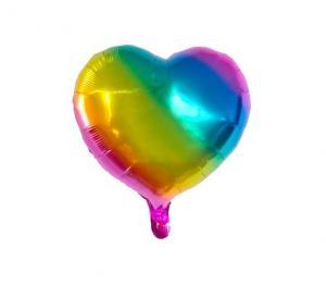 Heliumballong regnbåge ombre hjärtballong