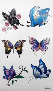 Tatuering färgglada fjärilar