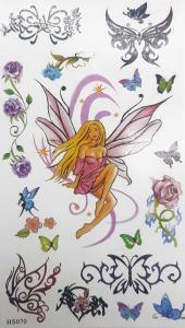 Tatuering fjäril flicka