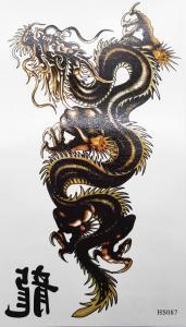 Tatuering kinesisk drake