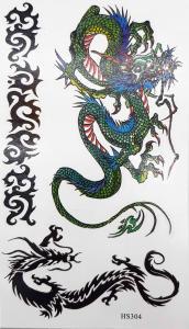 Tatuering kinesisk drake grön
