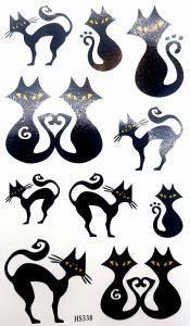 Tatuering svarta katter
