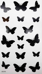 Tatuering svarta fjärilar