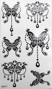 Tatuering henna fjärilar