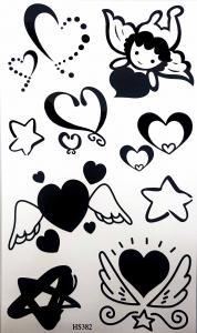 Tatuering valentine svarta