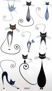 Tatuering svarta katter smala