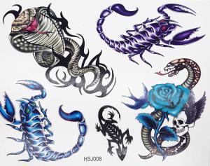 Tatuering Kobror och skorpioner