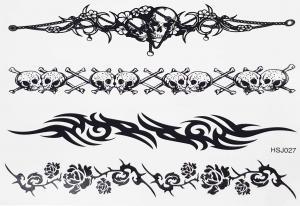 Tatuering tribal dödskallar