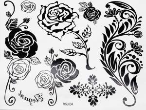 Tatuering svarta Rosor