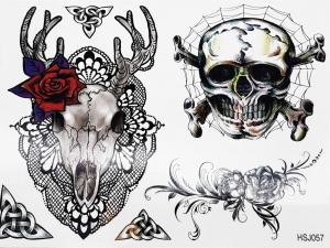 Tatuering Hortskalle och dödskalle