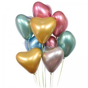 Chrome Hjärta med helium 10st ballonger