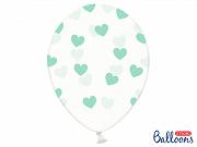 Balloons 30cm,Hearts, Crystal Clear