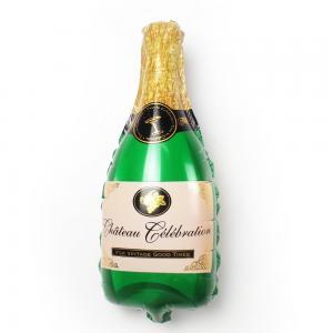 Champagneflaska grön