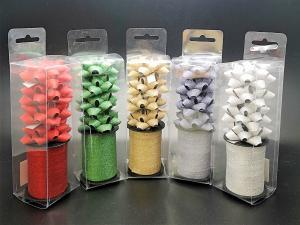 Glitter Rosetter med presentband 5-pack