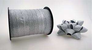 Glitter Rosetter med presentband 5-pack Silver