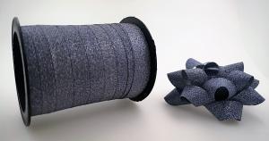 Glitter Rosetter med presentband 5-pack Mörk grå