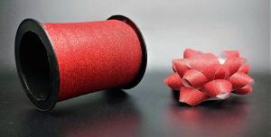 Glitter Rosetter med presentband 5-pack Röd