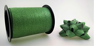 Glitter Rosetter med presentband 5-pack Grön