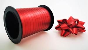 Rosetter med presentband Matt 5-pack Röd