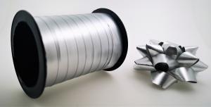 Rosetter med presentband Matt 5-pack Silver