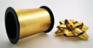 Rosetter med presentband Matt 5-pack Guld