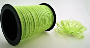Rosetter med presentband Organza 5-pack Lime grön