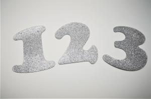 Siffror för girlanger Silver