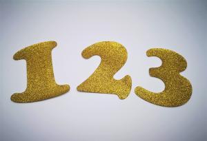 Siffror för girlanger Guld