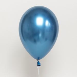 Latexballong Chrome blå