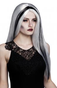 Häx peruk aurora grå/svart