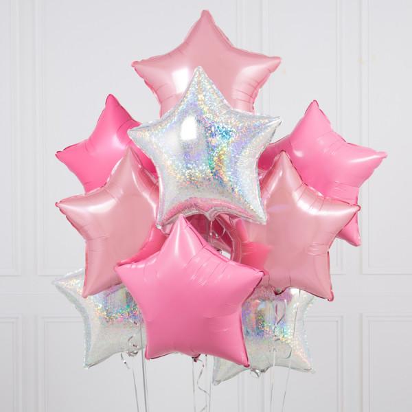 helium ballongbukett stjärnor disco