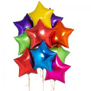 helium ballongbukett stjärnor regnbåge