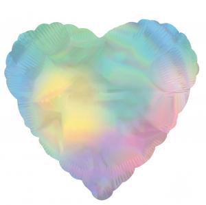 Heliumballong Iridescent hjärtballong