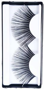 Svart med silver touch Lösögonfransar XL